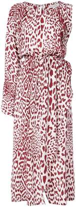 Robert Rodriguez leopard print dress