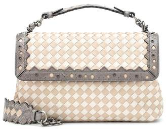 Bottega Veneta Olimpia Checker leather shoulder bag