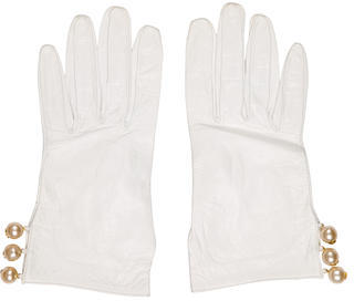 Chanel Chanel CC Leather Gloves