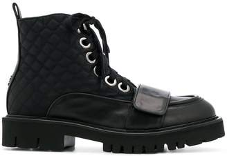 No.21 chunky lace-up boots