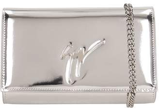 f5c81e5d81f7 Giuseppe Zanotti Mirror Silver Leather Clutch