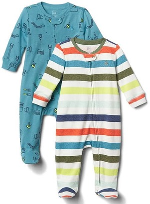 Garden fun footed zip one-piece (2-pack) $44.95 thestylecure.com
