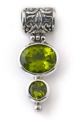 Samuel B. Sterling Silver Two Stone Peridot Pendant