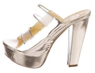 Versace Metallic Platform Sandals