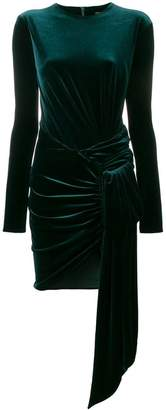 Alexandre Vauthier velvet draped mini dress