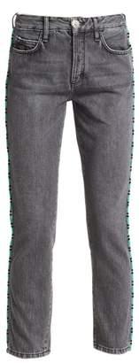 Alanui Tubular Beads Skinny Jeans