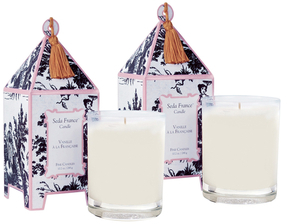 Vanilla a la Francaise Mini Pagoda Candle Set (2 OZ) (Set of 2)