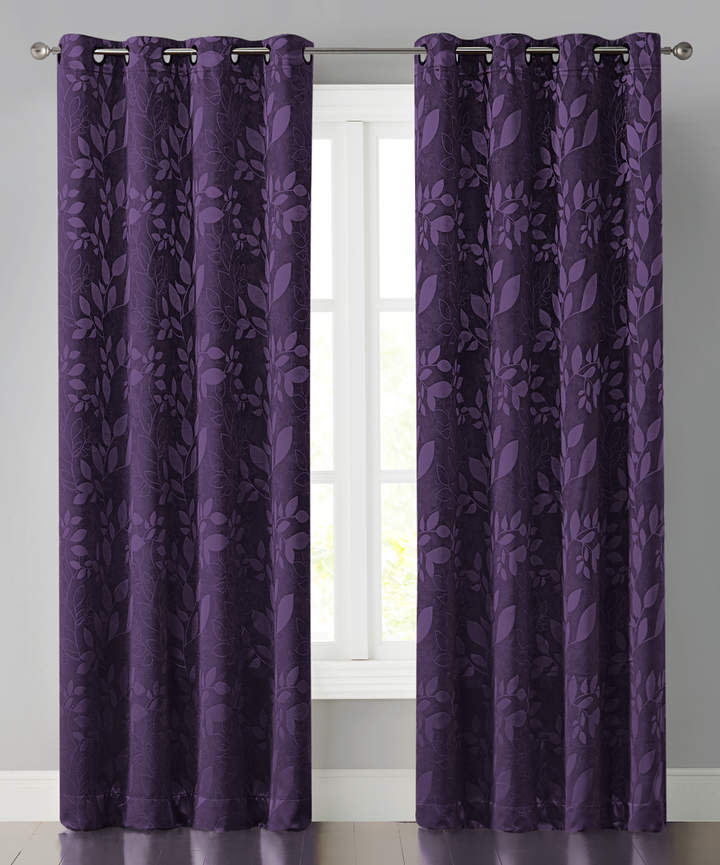Purple Jacquard Abby Curtain Panel