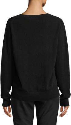 Vince Weekend V-Neck Cashmere Pullover Sweater