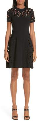 Valentino Eyelet Detail Knit Dress