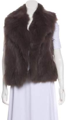 Diane von Furstenberg Fox Fur Vest