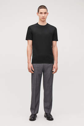 Cos KNITTED SILK-COTTON T-SHIRT