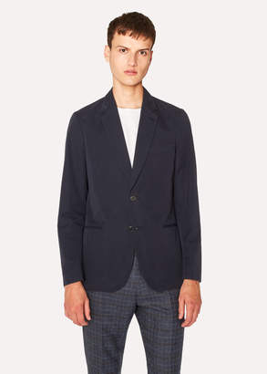 Paul Smith Men's Tailored-Fit Dark Navy Unlined Cotton Blazer