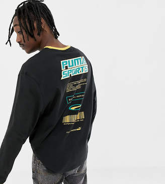 Puma organic cotton long sleeve top in black Exclusive at ASOS
