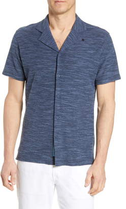 Robert Graham Turco Regular Fit Knit Camp Shirt