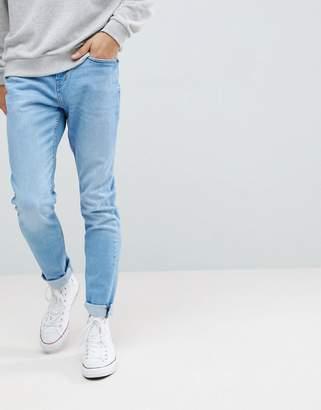Pull&Bear Slim Jeans In Light Blue