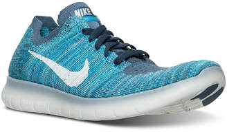 Nike Women's Free RN Flyknit Running Sneakers from Finish Line $130 thestylecure.com