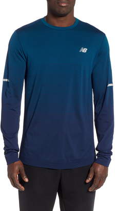 51fbee95e9230 New Balance Ombre Long Sleeve Performance T-Shirt