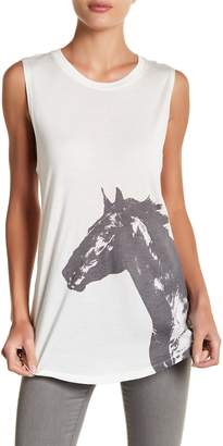 Haute Hippie Graphic Horse Muscle Tank