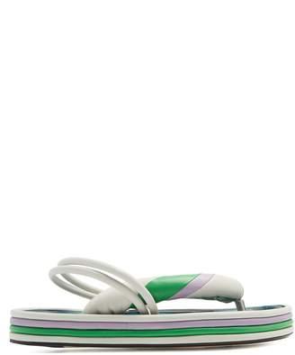 Isabel Marant Etanee tri-colour leather flatform sandals