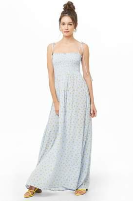 Forever 21 Daisy Print Maxi Dress