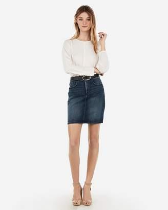 Express High Waisted Denim Perfect Pencil Skirt