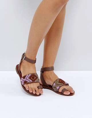 Free People Freepeople Embroidered Flat Sandal