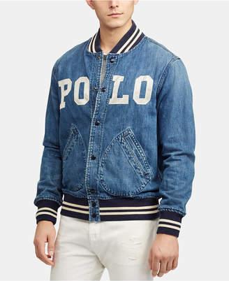 Polo Ralph Lauren Men Varsity-Inspired Denim Jacket