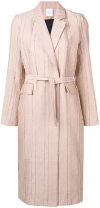 Roseanna belted pinstripe coat
