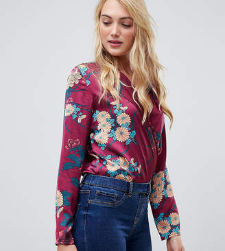 Parisian Tall floral print wrap body