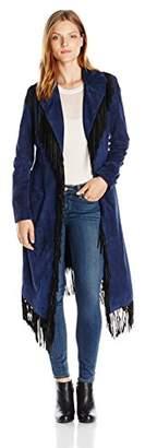 Haute Hippie Women's Suede Fringe Coat