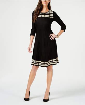 Jessica Howard Petite Patterned Sweater Dress
