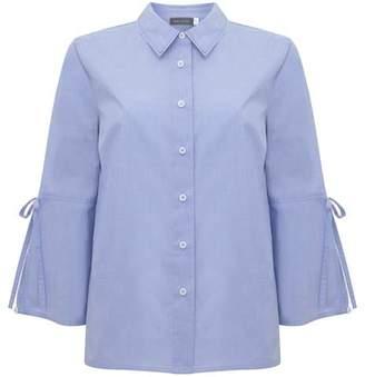 Mint Velvet Bluebell Tie Sleeve Poplin Shirt