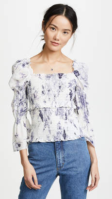 Cinq à Sept Adelaide Inky Floral Top