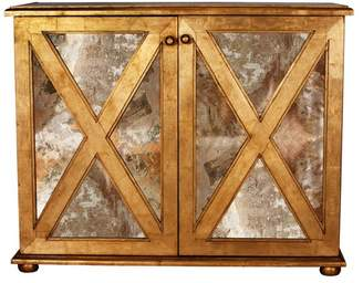 Worlds Away Large Reverse Mirror Chest
