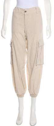 Alice + Olivia Low-Rise Cargo Pants