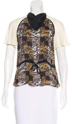Mayle Printed Short Sleeve Top