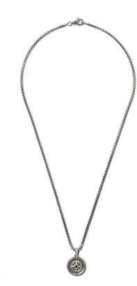 David Yurman Maritime Compass black diamond amulet