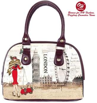 OH FASHION OH Fashion Women Tote Fascinating London PU Leather, Travel, Beach, Big Handbag , makeup organizer Fashion City