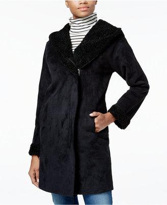 RACHEL Rachel Roy Asymmetrical Shearling Walker Coat, Only at Macy's $250 thestylecure.com