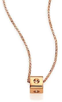 Roberto Coin Women's Pois Moi 18K Rose Gold Mini Cube Pendant Necklace