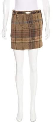 Ralph Lauren Alpaca & Wool-Blend Mini Skirt