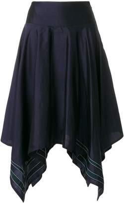 Thom Browne Scarf Hemline Below-knee Silk Skirt