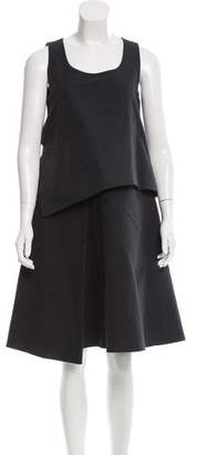 Hache Draped Knee-Length Dress