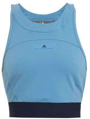 Adidas By Stella Mccartney - Hot Yoga Performance Bra - Womens - Light Blue
