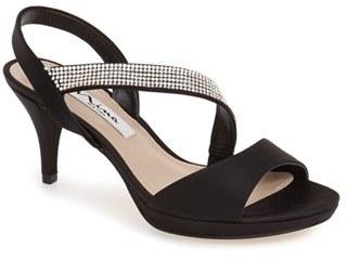 Nina 'Novelle' Crystal Embellished Evening Sandal (Women) $88.95 thestylecure.com