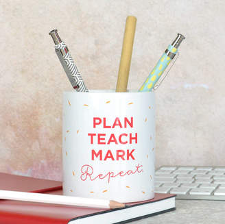 Equipment Pink and Turquoise Teacher Pencil Pot