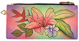 Anuschka Anna by Women's Genuine Leather Organizer Wallet | Hand Painted Original Artwork | Five Credit Card Holders