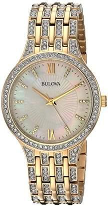 Bulova Women's 98L234 Swarovski Crystal Tone Bracelet Watch