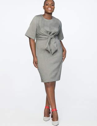 Tie Front Work Dress